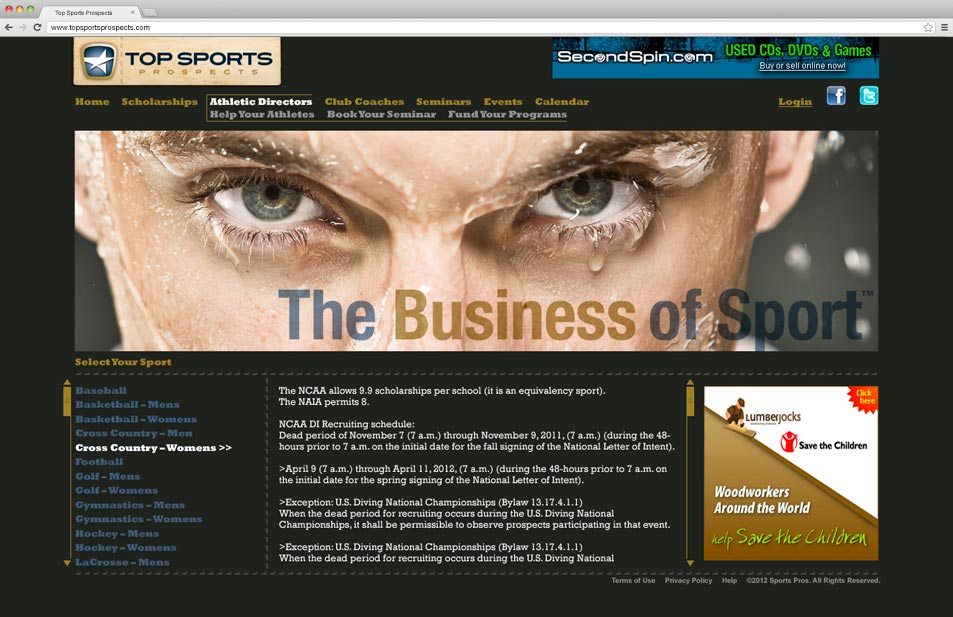 top-sports-prospects-website-homepage-design