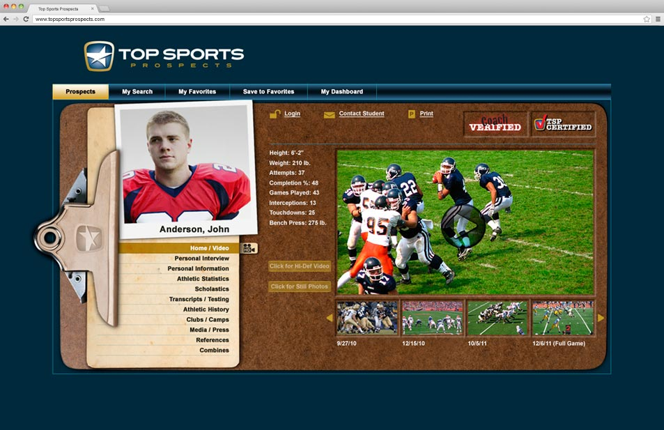 top-sports-prospects-website-microsite-homepage-design
